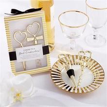Идеальный 1 пара Золотое любовное сердце пробка для бутылки красного вина открывалка для шампанского твист набор для красного вина свадебный подарок