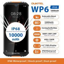 OUKITEL هاتف ذكي ، WP6 ، 6 جيجابايت ، 128 جيجابايت ، 48 ميجابكسل ، مقاوم للماء ، متين ، هاتف ذكي ، Ip68 ، ثماني النواة ، 9 فولت/2 أمبير ، بطارية 10000 مللي أمبير ، كاميرا ثلاثية