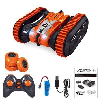 Two-in-one Remote Control Double-sided Driving Stunt Car 4WD RC Crawler Car R7RB remote control rc stunt car