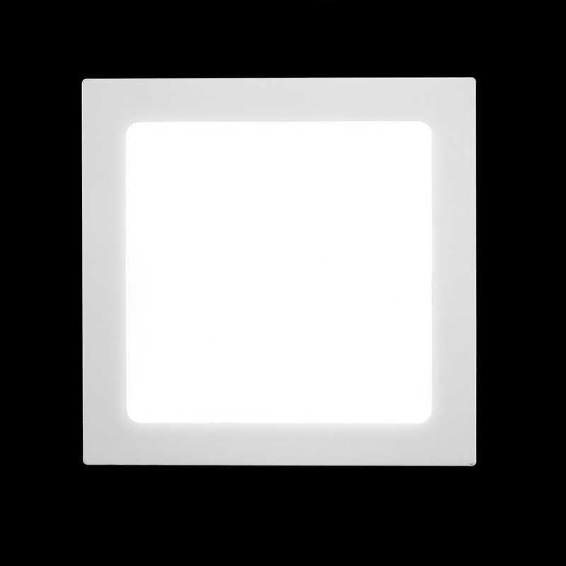 Квадратный светодиодный светильник 3 Вт 6 Вт 9 Вт 12 Вт 15 Вт 18 Вт Встраиваемый светодиодный прожектор ультра тонкий 110 В ~ 240 В Внутреннее освещение для домашнего декора