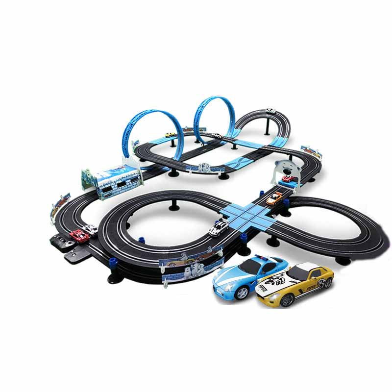 1:64 Track Electric Autorama Circuit Car Double Electric Remote Control Toy Car Interactive Racing Track Toys Race Track For Boy