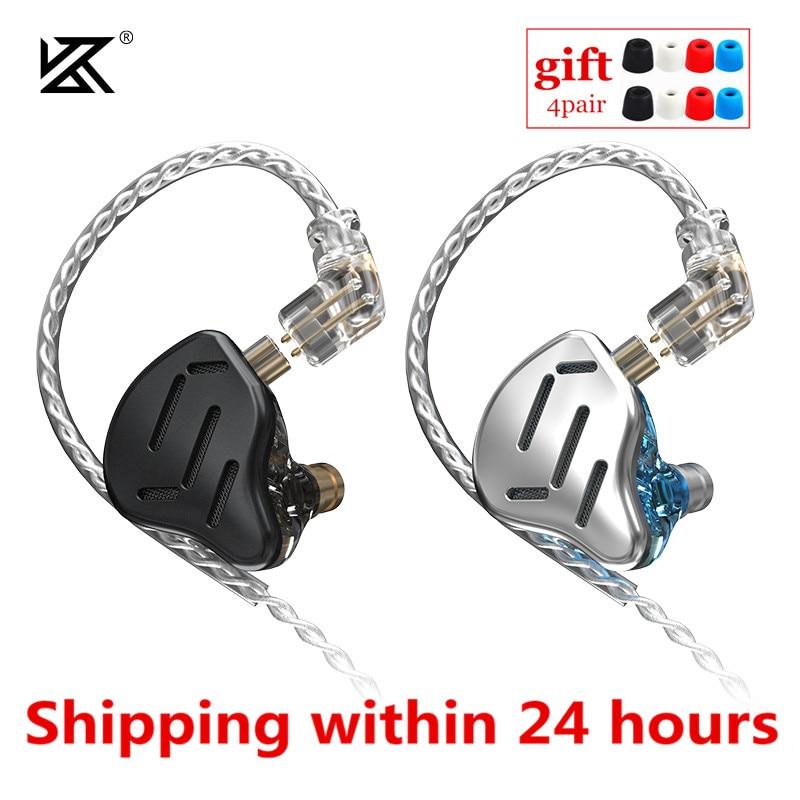 KZ ZAX 1DD 7BA Hybrid In Ear Earphones 16 Driver Unit Headset HIFI DJ Monitor Earbuds Earphone KZ ZSX C10 PRO AS16 CA16 ZS10 PRO