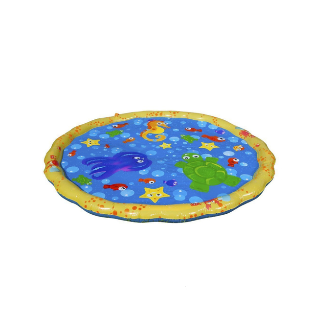 170cm Inflatable Spray Water Cushion Summer Kids Play Water Mat Lawn Games Pad Sprinkler Play Toys Outdoor Tub Swiming Pool 3