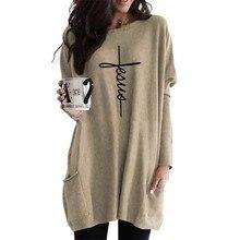 Glauben Langarm Casual Tasche Hoodies Für Frauen Feaua Briefe Drucken Sweatshirt Femmes Kawaii Sweatshirts Hoody Frauen