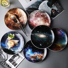 Nordic Wind Starry Ceramic Plate Net Red Pendulum Breakfast Western Steak Dish Round Home Creative Custom WF5291034