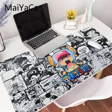 MaiYaCa-alfombrilla de ratón con diseño de cómic de una pieza, XXL alfombrilla de ratón para ordenador portátil, escritorio, pc, Juego completo para lol/world of warcraft