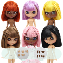ICY DBS Blyth doll Tan and Super Black skin joint body oily hair 1/6 BJD special price 1/6 BJD gift toy