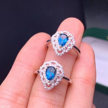 jewelry 925 sterling silver inlaid natural blue topaz gemstone girl ring white gold fashion face luxury color translucent hollo jewelry 925 sterling silver natural topaz earrings mini small oval girls earring shaped faceted gemstone translucent luxury supp