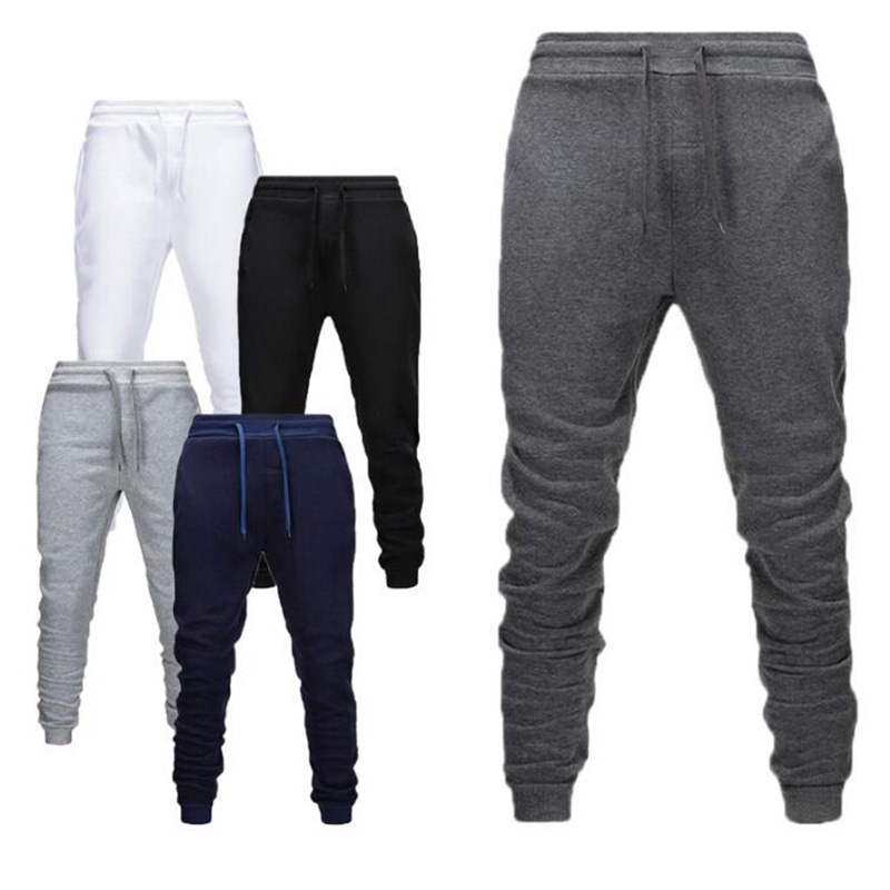 Plus Velvet Autumn Winter New Men Joggers Casual Pants Gray Sweatpants Casual Elastic Fitness Gyms Fitness Training Give XXXL