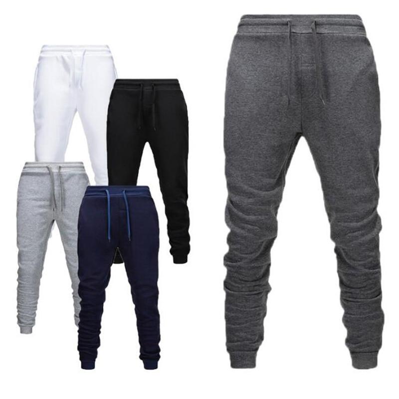 Plus Velvet Autumn Winter New Men Joggers Casual Pants Gray Sweatpants Casual Elastic Fitness Gyms Fitness Training Give XXXL