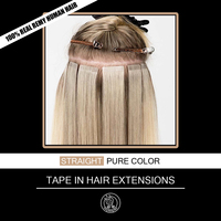 Tape In Human Hair Extensions Adhesive Invisible On Real Remy Hair Straight PU Skin Weft Extension 16 20 inch 2.0g/pc 40g/pack