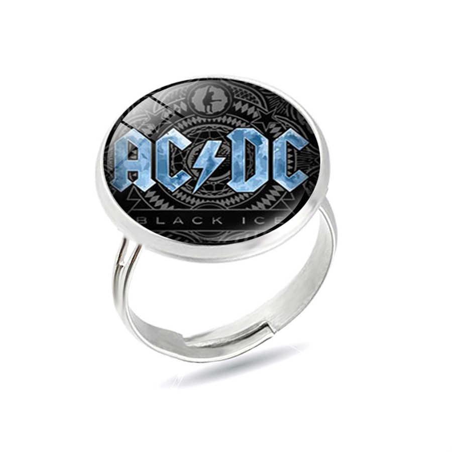 Musica Rock Band AC/DC ACDC Logo Rosso Anelli di Modo Europeo e Americano ACDC Punk Anelli Ventole Regalo Dei Monili anelli