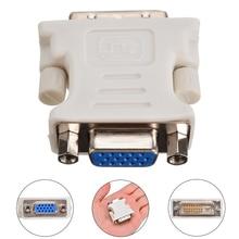 цена на DVI-D Male to VGA Female Socket Adapter Converter VGA to DVI 24+1 Pin Male to VGA Female Adapter Converter