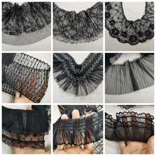 A Variety Of Exquisite Black Pleated Tulle Lace Fabric DIY Clothing Leader Mouth Skirt Hem Accessories Curtain Sofa Sewing Trim