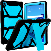 """Heavy Duty Armor Case For Huawei MediaPad M5 Lite 10 PC and Silicon Cover for M5 Lite 10 BAH2 W19 BAH2 L09 BAH2 W09 10.1"""" + Flim"""
