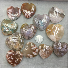 Natural cherry agate 3D accessories pendant floating flower DIY  wholesale