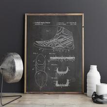Impresión de patente de zapato de lucha, dibujo artístico de zapatos de lucha, póster, decoración de la pared, impresión vintage, plano, imagen