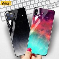 Funda de teléfono de lujo para iPhone, carcasa de vidrio templado para iPhone 5 5S SE 2020 6 6S 7 8 Plus 9H X XR XS Max 12 Mini 11 Pro MAX