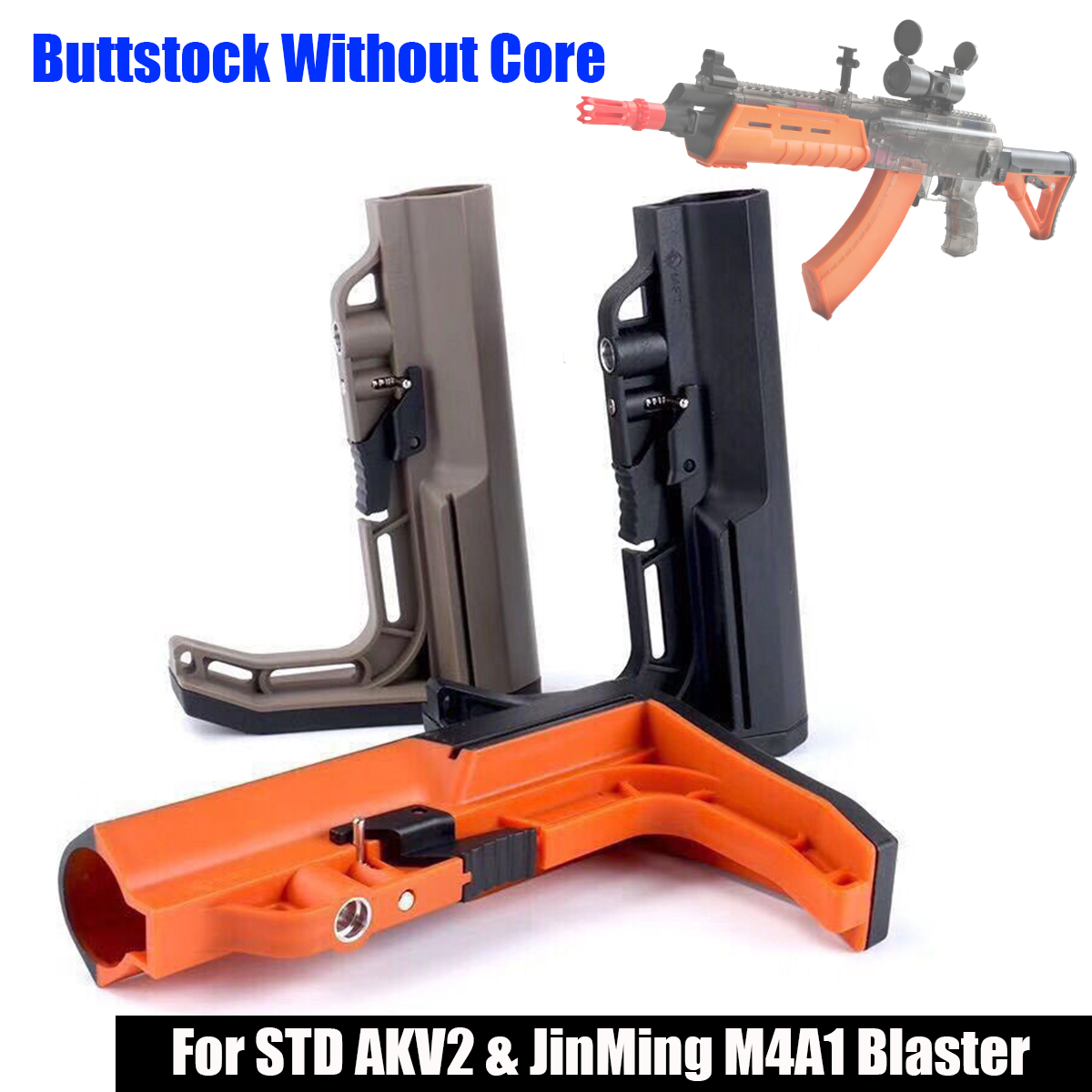 Nylon For MFT Buttstock Without Core For STD AKV2 For JinMing/M4A1 Gel Ball Blasting Toys Accessories