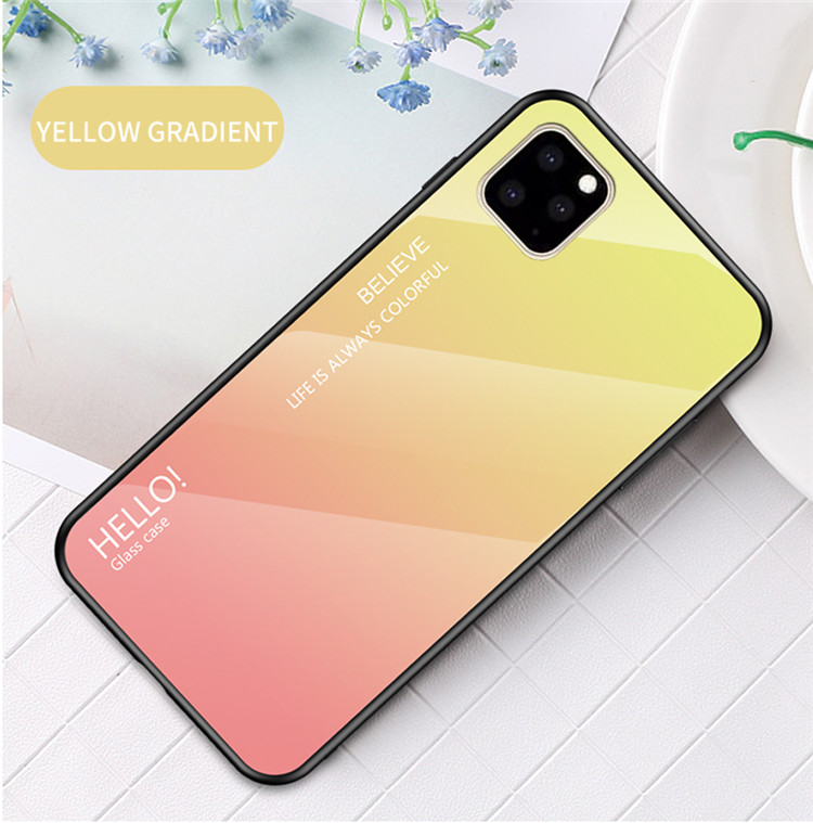Ollyden Gradient Tempered Glass Cases for iPhone 11/11 Pro/11 Pro Max 14