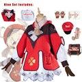 Genshin Клее Косплэй Одежда Одна деталь сумка Шапка очки перчатки Шарф шорты костюмы для девочек комплекты игровых автоматов для проектов