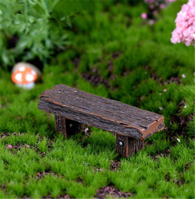 1 chiếc Gỗ Dài Băng Ghế Dự Bị Thu Nhỏ In Hình Hoa Lá Vườn Cổ Tích Phụ Kiện Búp Bê Trang Trí Hình Động Vật Mô Hình Nhựa Cô Gái Đồ Chơi