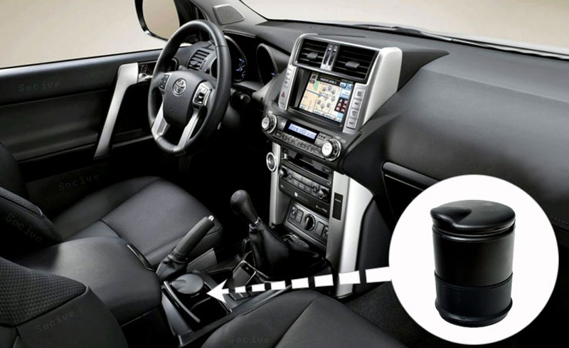 Drop Ship Car Auto Truck LED Light Cigarette Ash Ashtray Butt Extinguish Holder Cylinder Office Cup Can Smoke Accessory