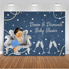 Newborn Baby Shower Backdrop for Photography Baby Princess Photo Background Party Decoration Banner Diamonds Backdrops 514 mehofoto baby shower photo backdrop for photography little princess newborn flower background gold crown birthday party booth