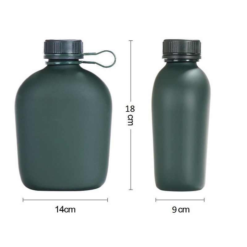 1L botella de agua para deportes de exterior militar botella de agua para acampar con bolsa botella de cantimplora Camping senderismo supervivencia hervidor de agua