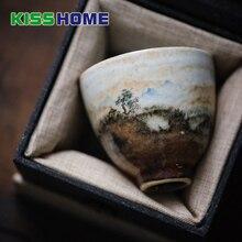 Fire Cloud Hand Painted Paint Cup Japanese-style Shinoya Handmade Ceramics Tasting Mug For Kung Fu Tea Birthday Gift