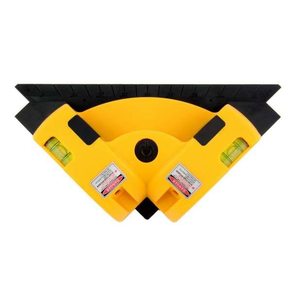 90 Degree Level Hand-held Right Angle Meter 2-Line Infrared Spirit Level Ruler Casting Line Ground Meter