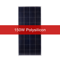 DOKIO 150W 18 Volt Solar Panel China 150 Watt Solar Panels Cell Can charge 12V System Charger for RV/Home