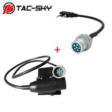 TAC-SKY AN/PRC 148 152 152A virtual radio case walkie-talkie DIY connector U 283 U-283 and PRC  dummy ptt 6pin u94