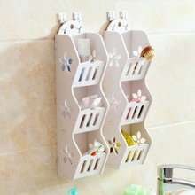 Bathroom Shelf Wall Mount Toilet Countertop Corner Washing Cosmetics Storage Rack