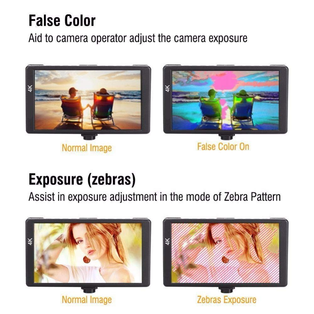 lowest price Feelworld Camera Monitor F6 Plus 5 5 Inch 3D Lut Touch Screen 4K HDMI IPS FHD 1920X1080 Monitor for DSLR Camera