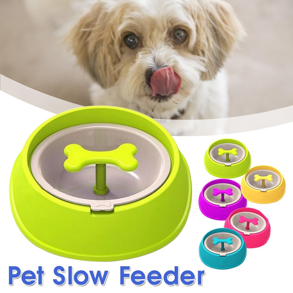 ペットボウル遅い食べるドリンクボウル骨形の犬ロータリー抗チョーク健康的な防止窒息大食いパズルフィーダー犬猫