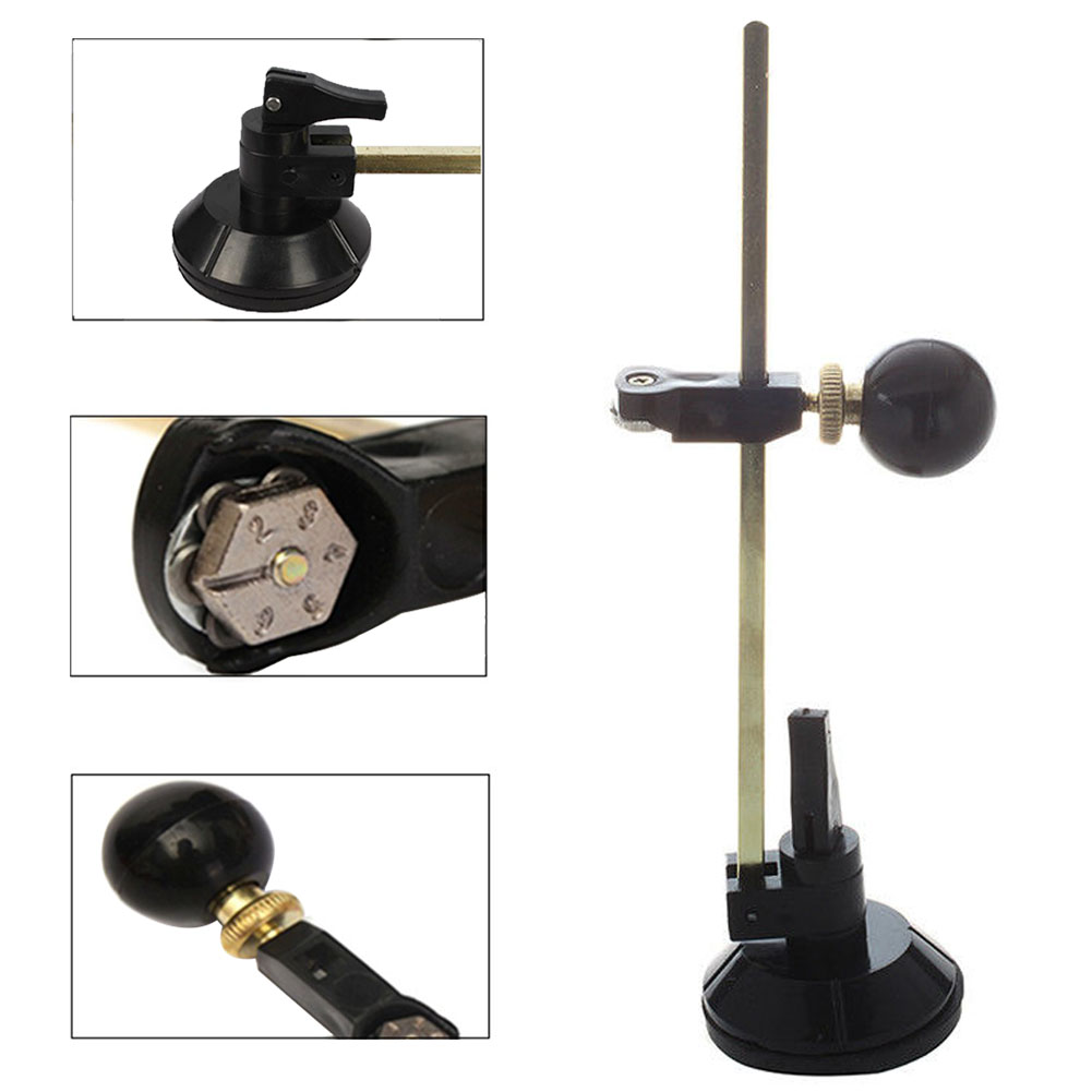 6 Wheels Portable Glass Cutter Window Suction Cup Easy Operate Construction Tool Scribe Circular  With Scale Durable Knob