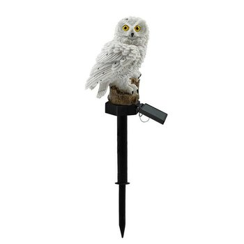 Owl Solar Light With LED Panel Fake Waterproof Garden Lights Ornament Animal Bird Outdoor Lamps