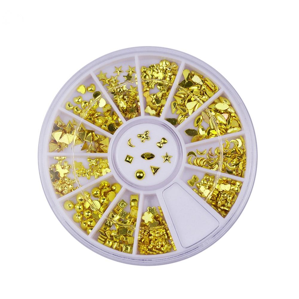 Маникюр Золото Серебро аксессуары конский глаз металлическая позолоченная цепь декоративная коробка мульти-стиль 1 коробка