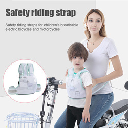 Children Safety Belt Back Strap Motorcycle Seat Harness Adjustable Breathable for Cycling FOU99
