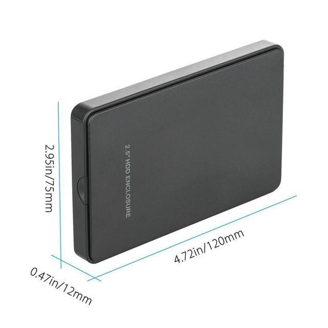 2.5 pouces USB2.0 SATA prend en charge 2 to boîte de disque dur libre disque dur vis boîte Mobile V0Q0