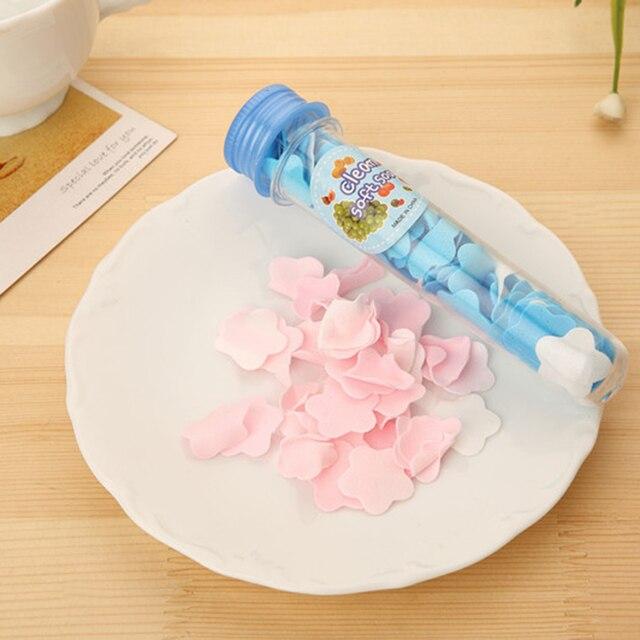 1 Box Foaming Portable Body Washing Bath Test Tube Flower Soap Slice Boxed Soap Paper Travel Portable Hand Washing Soap Slice 3