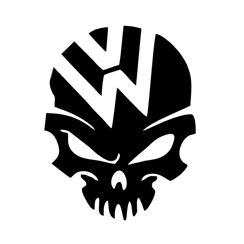 Ghost Rider Skull Crazy Car Sticker Emblem Fuel Tank Cover Vinyl Decal For VW Beetle Tiguan Golf 4 5 6 Passat B5 B6 Car Styling