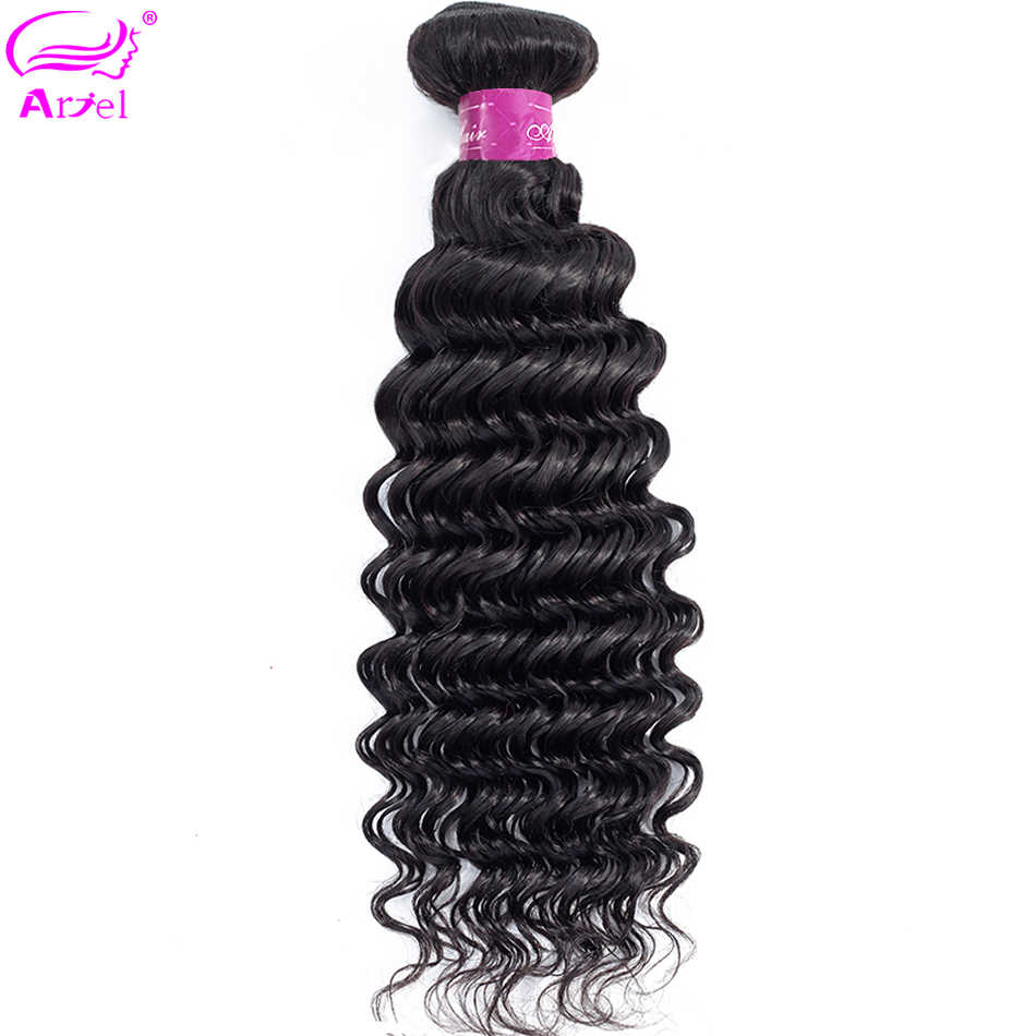Deep Wave Bundles Brazilian Hair Weave Bundles 40 32 30 Inch Bundles Natural Color Human Hair Bundles Remy Hair Extension Ariel