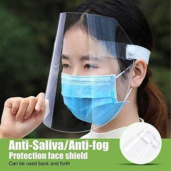 Full Face Masks Anti-droplets Anti-fog Dust-proof Face Shield Protective Cover Transparent Face Eyes Protector Safety Mask JP3 image