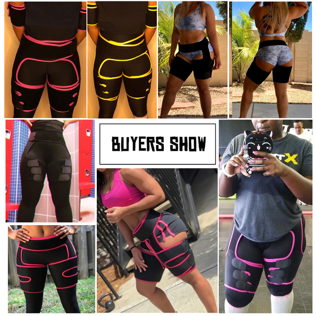 Faja Reductoras Sauna Corset Thigh shaper Waist Trainer Belt Slimming Sweat Pants Women Thigh Trimmers Leg Shaper Fat Burning US 5