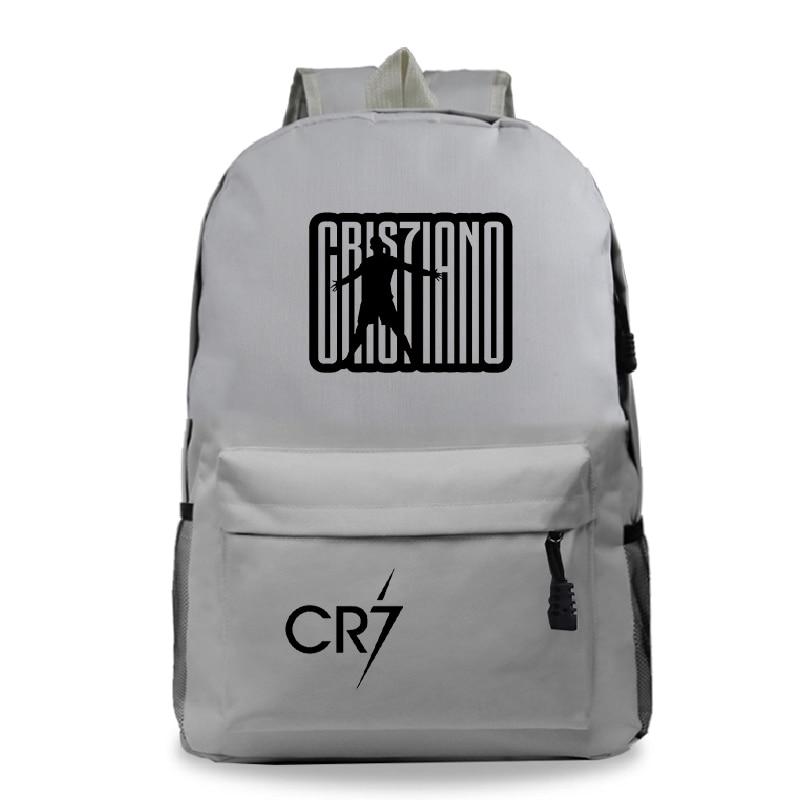 Bags Men Backpacks Knapsack Cristiano Ronaldo School Women Travel Laptop Girls Teens