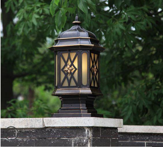 Colonne européenne phare applique extérieure étanche clôture colonne lampe extérieure cour carrée villa lampe de jardin