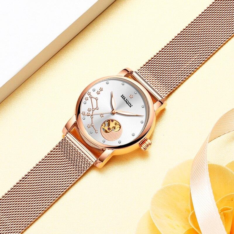 HAIQIN Women's Watches Luxury Women Watches Top Brand Sport Wrist Watch Mechanical Watch Fashion Ultra-thin Relogio Feminino New