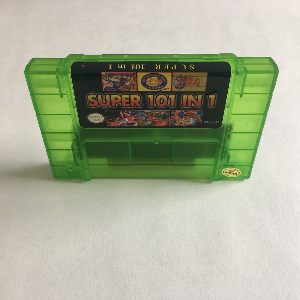 Best SNES Video Games Cartridge 101 In 1 SNES Game Cartridge 16 Bit SNES Games Brand NTSC-U/C US Canada English